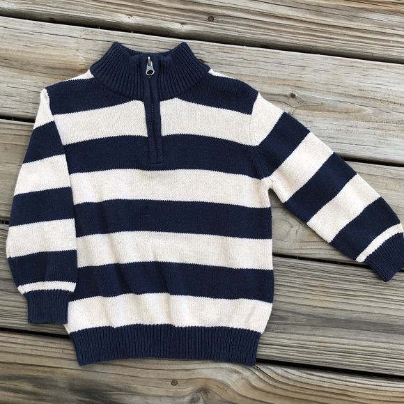 1989 Place Other - Blue and White Striped Pullover